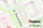 Схема проезда до компании На Вагановых в Перми
