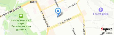Детский сад №161 на карте Перми
