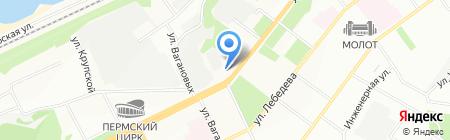 Артель на карте Перми