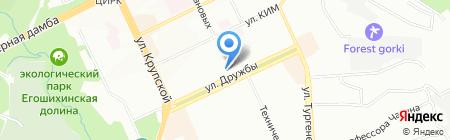 Средняя общеобразовательная школа №112 на карте Перми