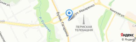 Банкомат Банк Уралсиб на карте Перми