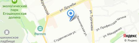 Средняя общеобразовательная школа №116 на карте Перми