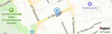 Детский сад №272 на карте Перми