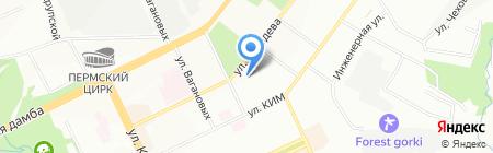 Энфорта на карте Перми