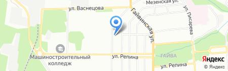На Кабельщиков на карте Перми