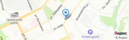 Пермь-Водопровод на карте Перми