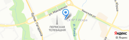 Атриум ТЭК на карте Перми