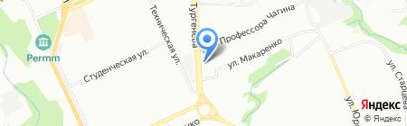 Сеть магазинов на карте Перми