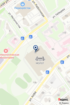 ДВОРЕЦ СПОРТА МОЛОТ на карте Перми