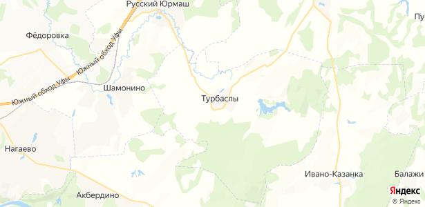 Турбаслы на карте