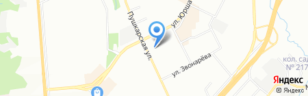 Анж на карте Перми