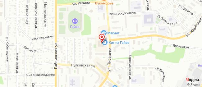 Карта расположения пункта доставки Пермь Писарева в городе Пермь