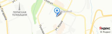 Стоматологическая поликлиника на Садовом на карте Перми