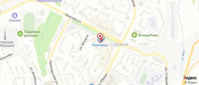 Карта расположения пункта доставки Пермь Уинская в городе Пермь