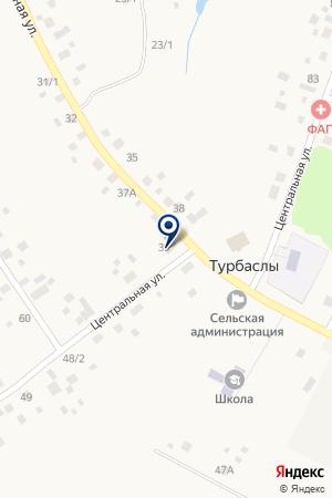 Продовольственный магазин на карте Акбердино