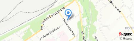 На перекрестке на карте Перми