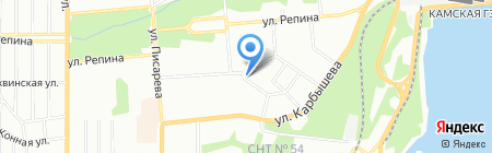Автозаряд на карте Перми