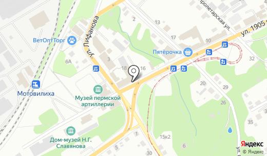 Банкомат Банк ВТБ 24 ПАО. Схема проезда в Перми