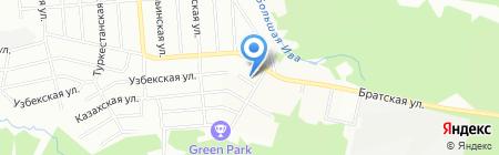 Деталь на карте Перми