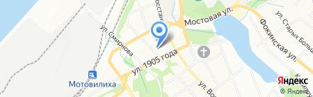 Темпо на карте Перми