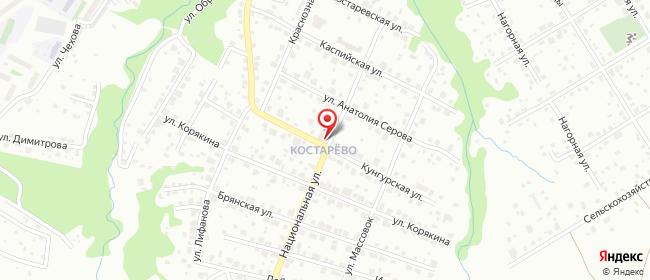 Карта расположения пункта доставки Халва в городе Пермь