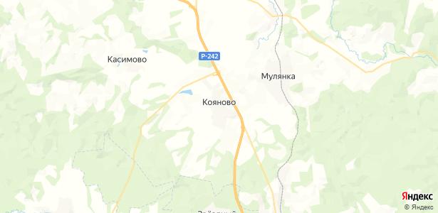 Кояново на карте