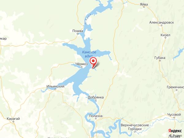 поселок Нижний Лух на карте