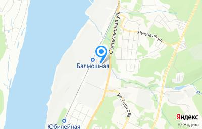 Местоположение на карте пункта техосмотра по адресу г Пермь, ул Соликамская, д 285