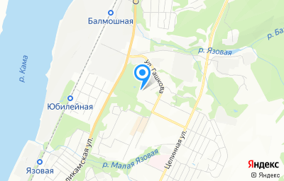 Местоположение на карте пункта техосмотра по адресу г Пермь, ул Ивана Франко, д 39