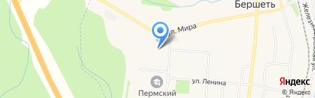 Бершетская средняя общеобразовательная школа на карте Бершетя