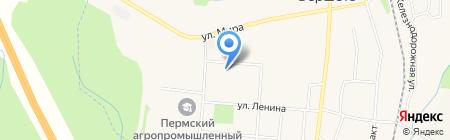 Пермская птицефабрика на карте Бершетя