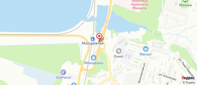 Карта расположения пункта доставки Билайн в городе Пермь