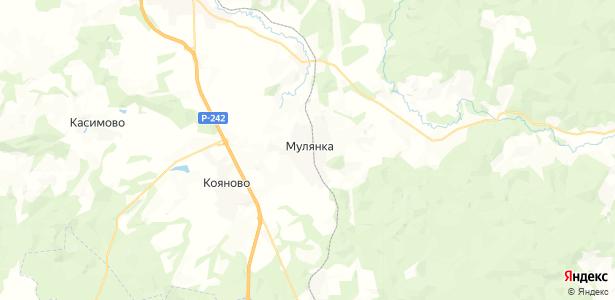 Мулянка на карте