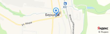 Сеть продуктовых магазинов на карте Бершетя
