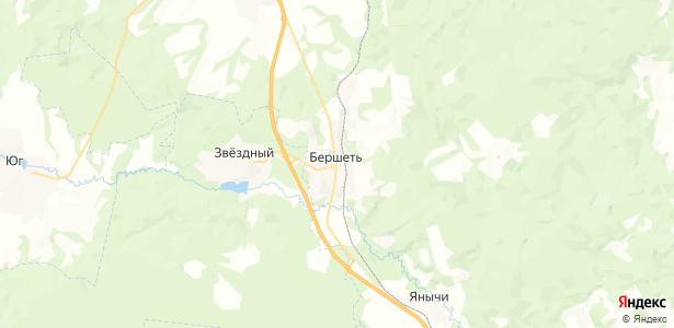 Бершеть на карте