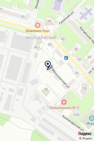 Центр авторемонта на Ставропольской на карте Перми