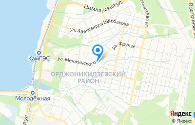 Местоположение на карте пункта техосмотра по адресу г Пермь, ул Менжинского, д 54
