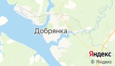 Отели города Добрянка на карте