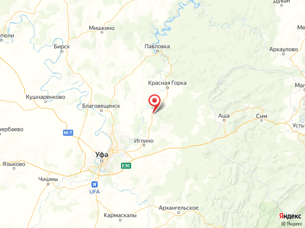 деревня Урман на карте