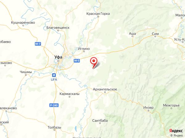 деревня Чкаловское на карте
