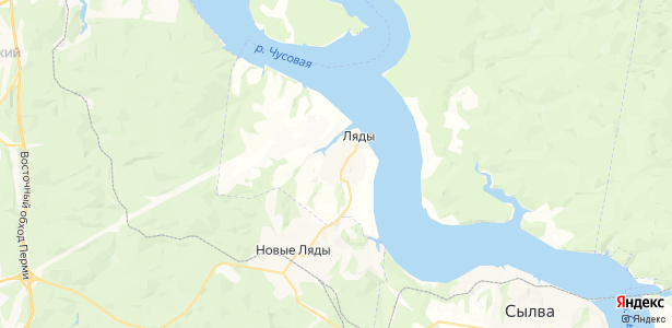 Малая на карте