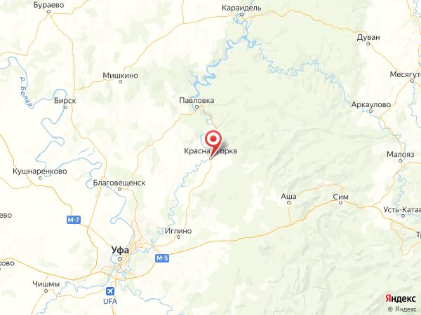 село Красная Горка на карте