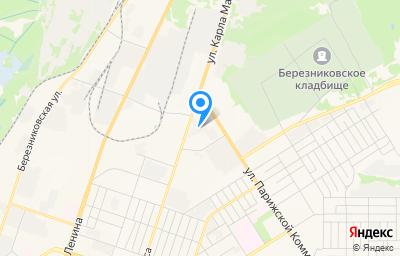 Местоположение на карте пункта техосмотра по адресу Пермский край, г Березники, ул Карла Маркса, д 130, пом 1