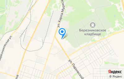 Местоположение на карте пункта техосмотра по адресу Пермский край, г Березники, ул Парижской Коммуны, д 2