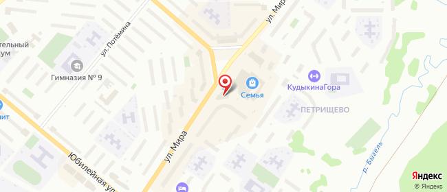 Карта расположения пункта доставки Березники Мира 62а (магазин Westfalika) в городе Березники