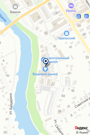 МАГАЗИН ИМПЕРИЯ МЕБЕЛИ на карте Кунгура