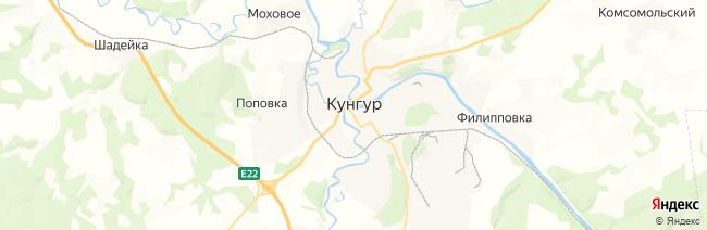 Кунгур на карте