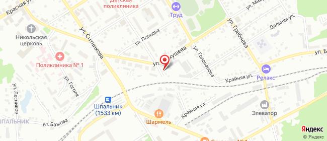 Карта расположения пункта доставки Кунгур Степана Разина в городе Кунгур