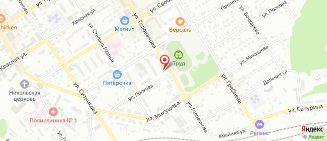 Карта расположения пункта доставки Пункт выдачи в городе Кунгур