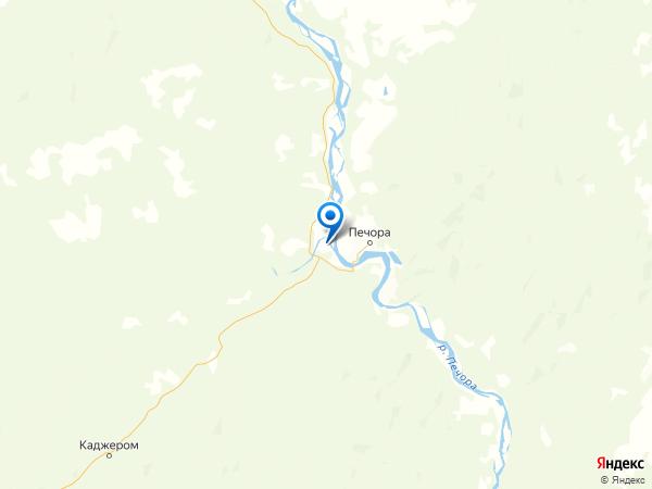 деревня Усть-Кожва на карте